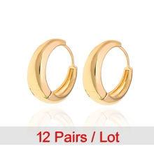 12 пар оптом серьги золотые кольца для женщин ohrringe kolczyki