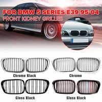 Paire de Grilles de calandre avant Chrome noir/noir brillant pour BMW E39 M5 5-series 525i 528i 530i 1997-2003 pièce accessoires auto