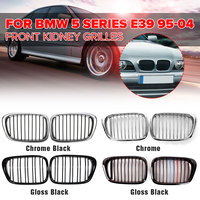 Pair Chrome Black/Gloss Black Front Kidney Grille Grilles For BMW E39 M5 5 series 525i 528i 530i 1997 2003 Car Accessories Part