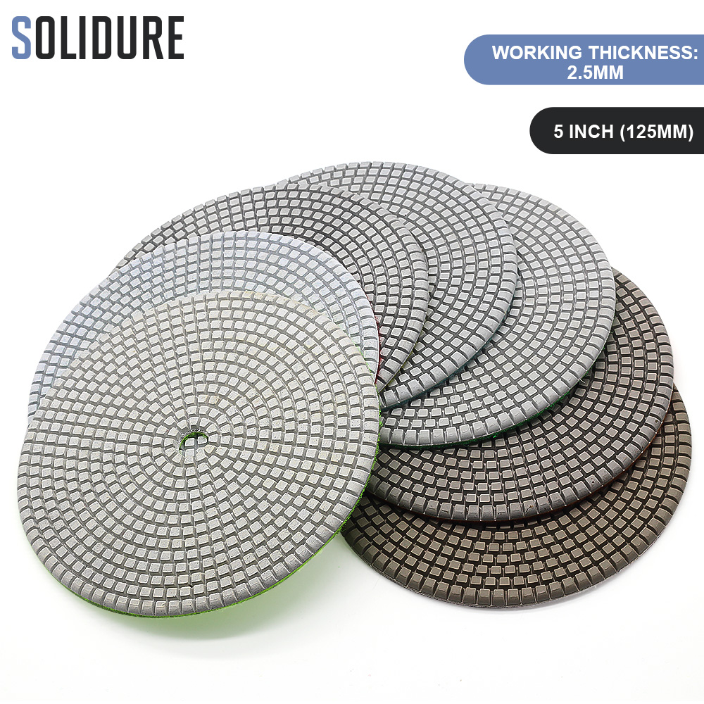 7 pc/lote 180 milímetros 7 polegada almofadas de polimento 3.0 milímetros de espessura trabalho para polimento de granito molhado, engenharia de pedra de mármore e concreto