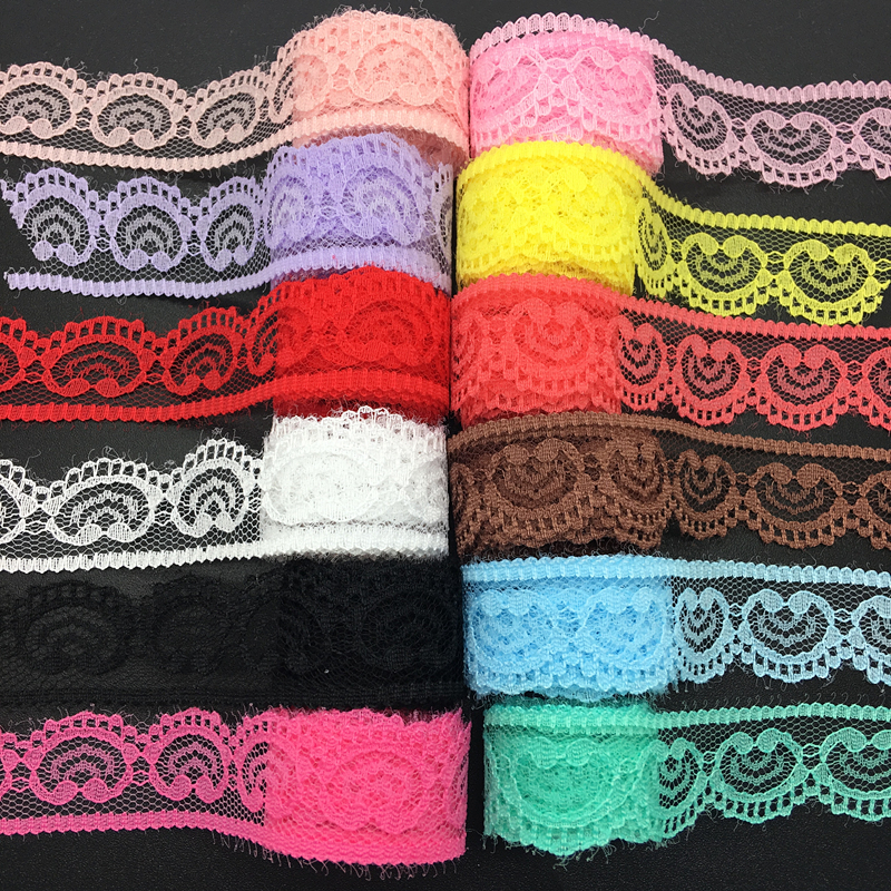 10yards/lot (22mm Wide) Handicrafts Embroidered Net Lace Trim Ribbon DIY Wedding/Birthday/Christmas Decorations
