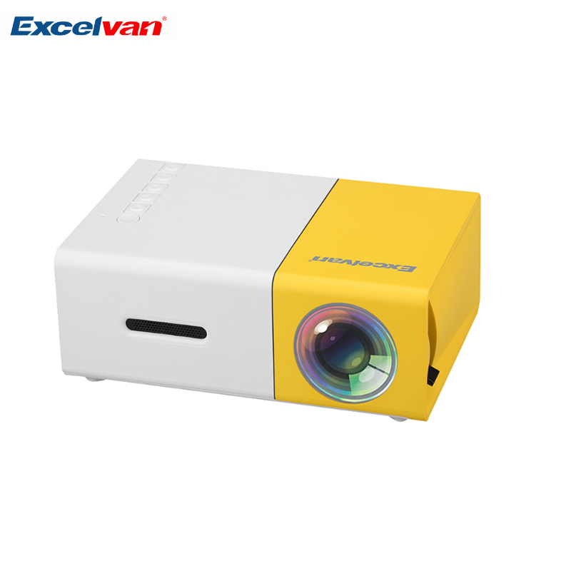 Drop Shipping Excelvan YG 300 Portable Mini Projector 600 Lumen YG300 320 X 240 Media Player