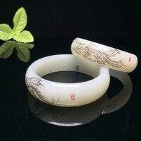 Bracelets & Bangles Bangles Pulseiras Feminina Bracelet Hotan Bracelet, Too Phoenix For Grain Hetian Throw In The Certificate