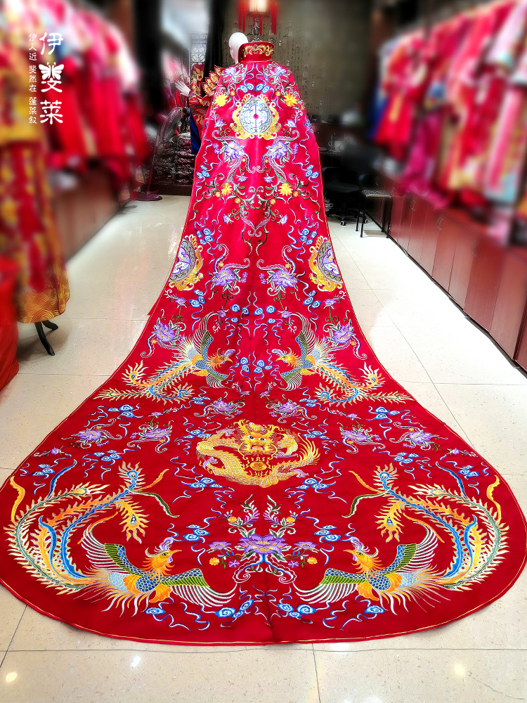 Trill With Fund Will Bride 2018 New Pattern Phoenix Coronet And Robes Of Rank Costume Chinese Style Wedding Dress The Wedding