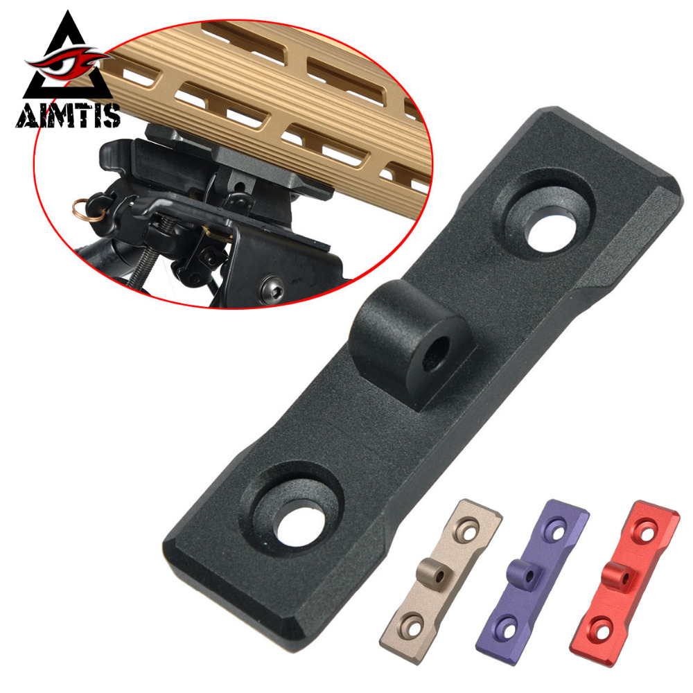Tactical M-LOK Bipod Mount Handguard Adapter Low Profile AR15 Rifle Accessory Harris Bipods Picatinny Rail For Hunting