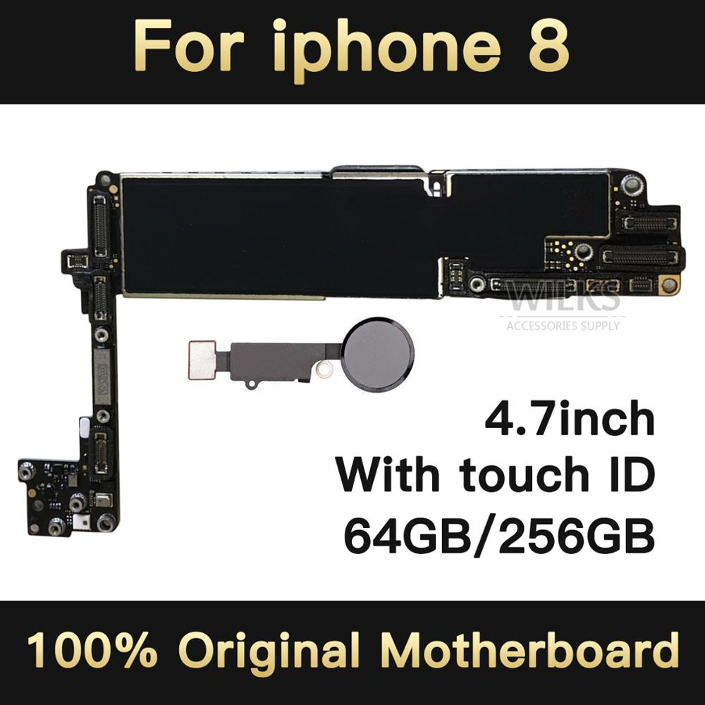 for <font><b>iphone</b></font> <font><b>8</b></font> <font><b>Motherboard</b></font> without / <font><b>with</b></font> <font><b>Touch</b></font> <font><b>ID</b></font> Original unlocked for <font><b>iphone</b></font> <font><b>8</b></font> Logic <font><b>with</b></font> IOS System fingerprint 64gb / 256gb image
