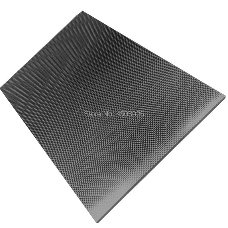 1Pc 400x500mm 3K Carbon Fiber Plate Panel Sheet 0.2-6mm Thickness Glossy Surface