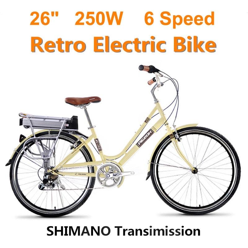 Скорость 250 Вт/15ah 10,4 36 В литиевая батарея электрический велосипед и велосипед Ретро умная противоугонная система