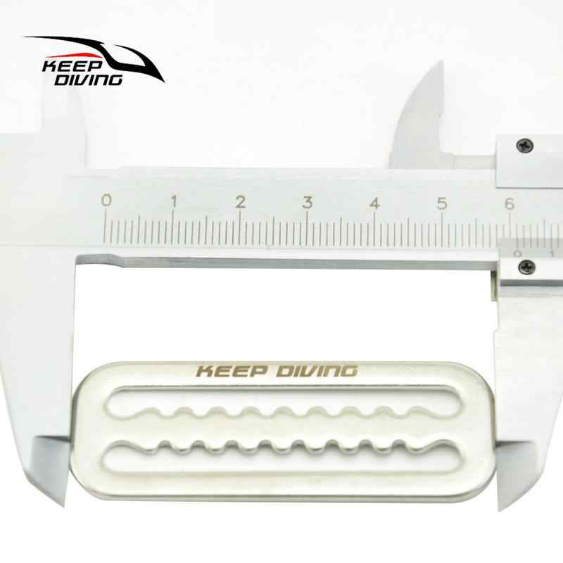 Keep Diving 316 pasek ze stali nierdzewnej pasek do nurkowania pasek Keeper pierścień sprzączki uchwyt skrzydło akcesoria BCD