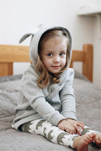 Baby Girl Kids Cute Rabbit Ear Bunny Hoodies Coat Jacket Long Sleeve Cotton Pullover Outwear Snowsuit Clothes(China)