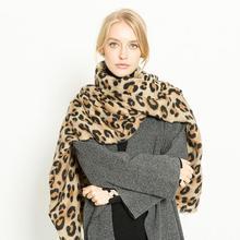2fddbd83404 Couple écharpe silencieux châle foulard moufle fausse fourrure châle  léopard Imitation cachemire chaud épaissir écharpe femmes