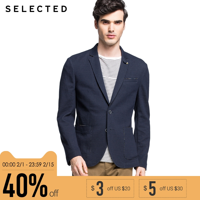 Selected Brand slim fit fashion simple style western-style jacket man| 415308009