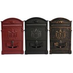 Heavy Duty Aluminium Lockable Secure Mail Letter Post Box Mailbox Postbox Retro Vintage Metal Mail Box Garden Ornament