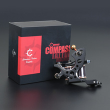 2 PCS Compass Tattoo Machine Plata Liner Fuego Shader WQ2062+WQ2062-1+WS124-4*2