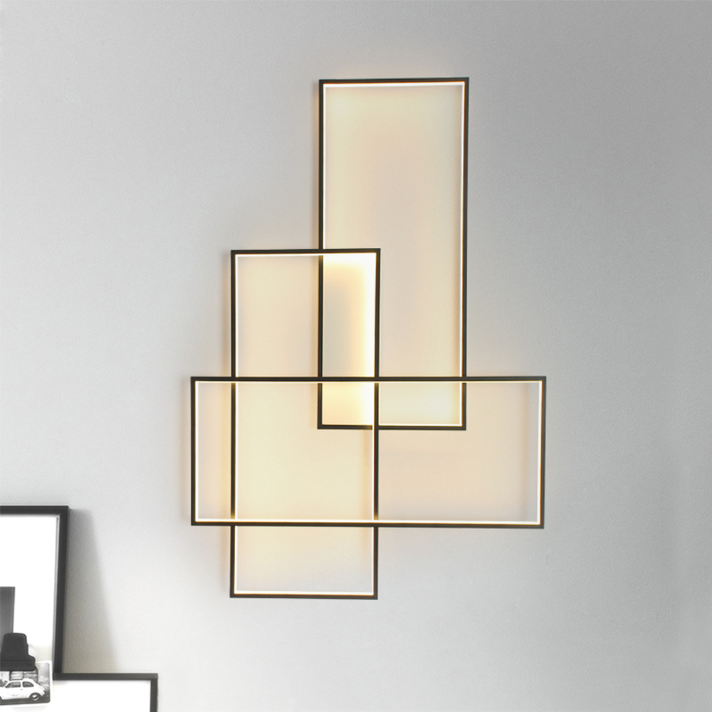 Cheap Price Modern Led Wall Lamp Designer Lighting Aluminium Living Bed Room Stairs Hotel Engineering Wall Light Smart Wi-fi Led Lamps Led Indoor Wall Lamps
