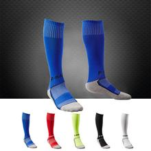 New Towel Bottom Children Football Socks Boys Soccer Sock Kids Above Knee Plain Long Stockings 7-12 Years Old