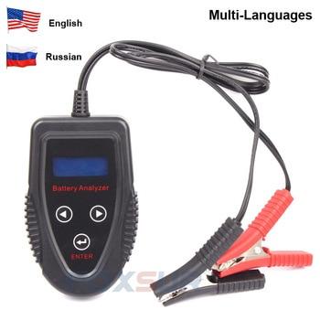 Foxsur Fbt1201 Car Battery Tester Multi-language 12v Cca Battery System Detect Automotive Car Bad Cell Battery Diagnostic Tool