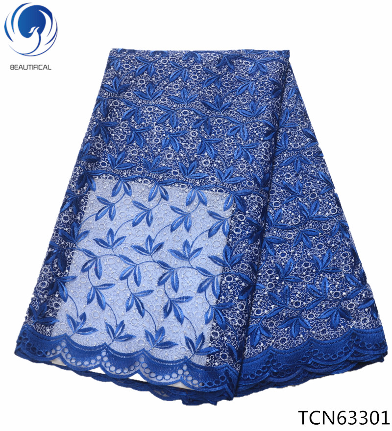 Beautifical french lace african Embroidered Nigerian Laces Fabric Bridal Tulle Lace Fabric For Women 5yards/lot TCN633