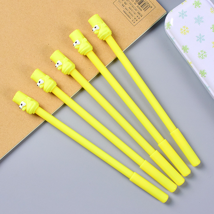 The Simpsons Cute Gel Pen Black Ink School Canetas Gift Stationery Office Supply 0.5mm