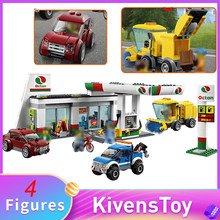 IN STORE Service Area Gas Station 02047 Town Building Blocks Bricks Toys Compatible with Lego 60132 City Series 540pcs(China)