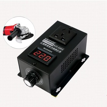 10000W High power Silicon Electronics Regulator napięcia maszyny elektryczny Regulator zmiennej prędkości 0V-220V tanie i dobre opinie Silnik prądu stałego AC220V gt 10000w 25a (5000w)