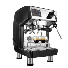 ITOP Espresso Coffee Maker Italian Machine Semi-automatic Commercial Black Color Cafe 220V