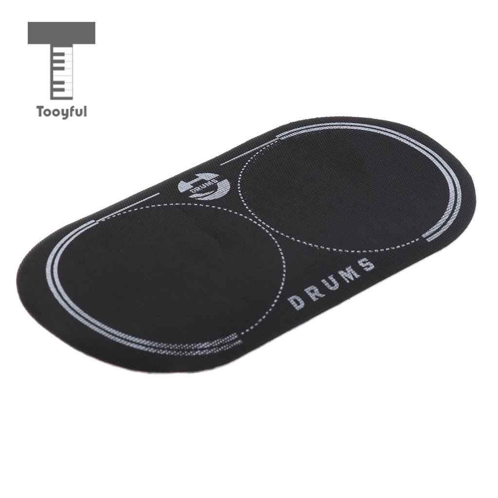 12.8x6.5cm Musical Double grosse caisse Patch pour Kit de batterie pièces grosse caisse Percussion Instrument de musique pièces accessoires