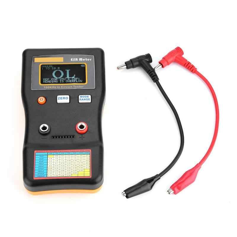 MESR-100 pojemności miernik Auto w zakresie tester obwodów ESR odporność pojemności miernik miernik rezystancji