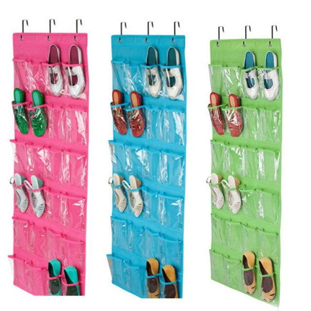 24 карманных пространства для обуви висячий Органайзер на дверь стойки настенная сумка держатель платяного шкафа для хранения детского сад...