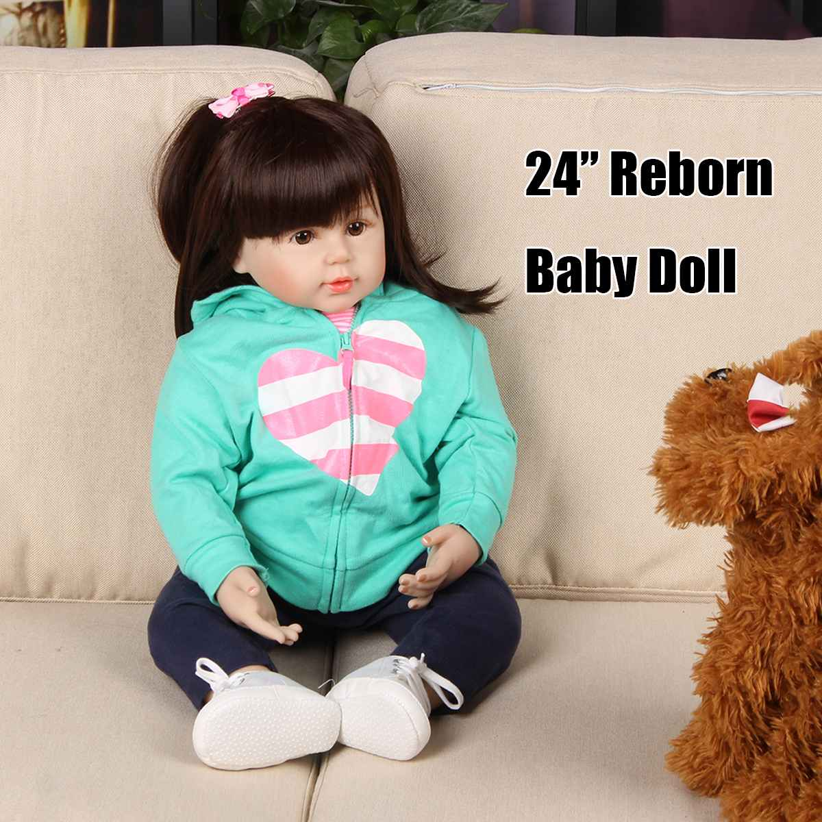 Silicone Reborn Doll Baby Toys 24inch Vinyl Princess Toddler Girl Babies Doll For Christmas Gift Birthday Gift Play House ToySilicone Reborn Doll Baby Toys 24inch Vinyl Princess Toddler Girl Babies Doll For Christmas Gift Birthday Gift Play House Toy