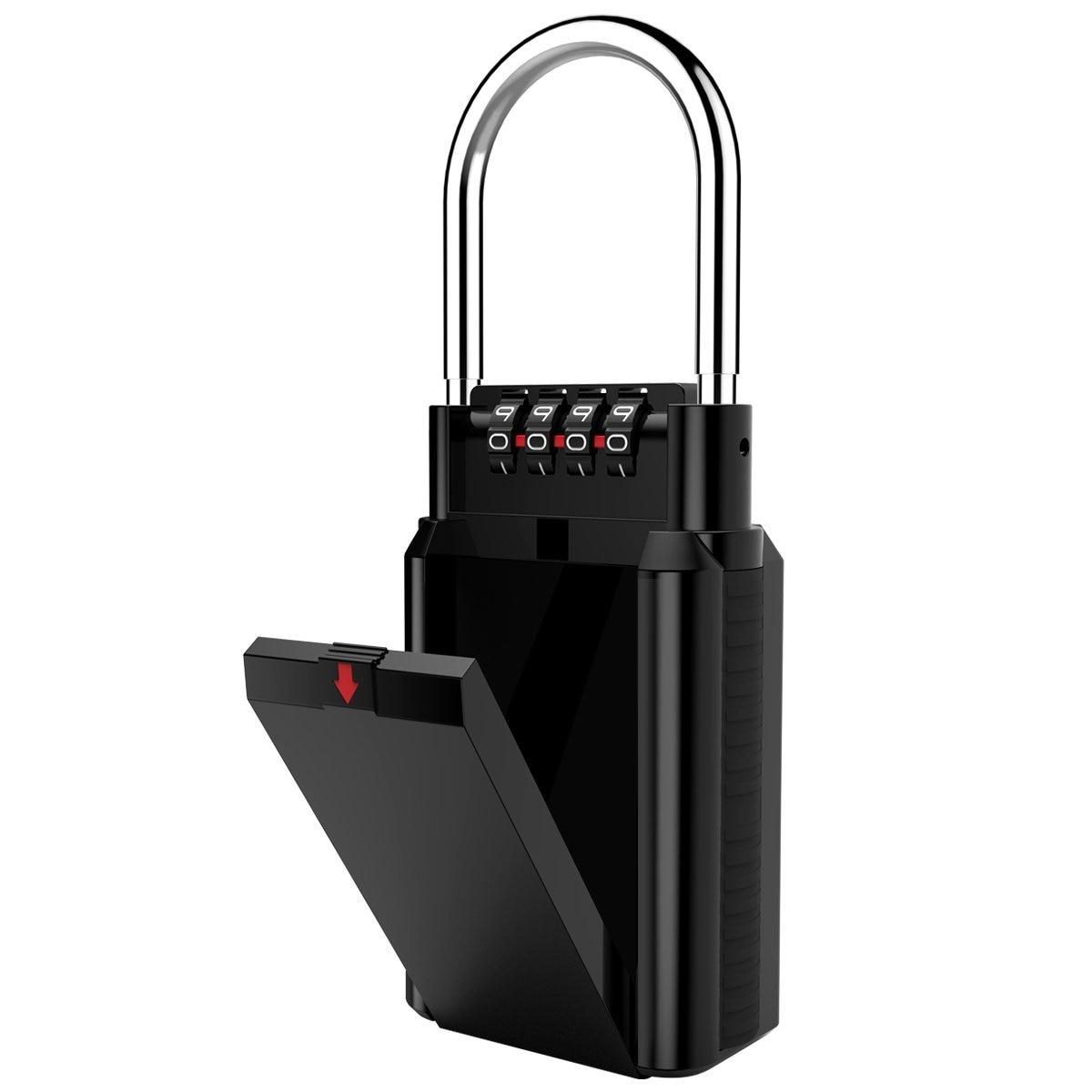 MOOL Combination Lock Box Key Storage Lock Box 4-Digit Combination Lock Waterproof Indoor/Outdoor