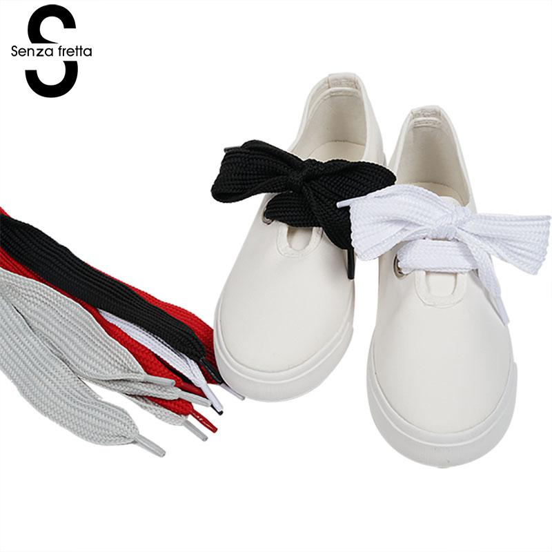 Senza Fretta Wide Shoelaces Shoestrings Wholesales Wide Fat Shoe Laces Shoelaces Bowtie Designer Shoe Laces 60*3 Cm LDD0201