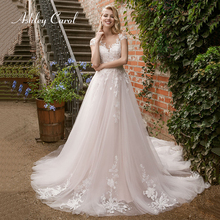 Ashley Carol Appliques A-Line Wedding Dress 2019 Short