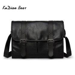 KUDIAN niedźwiedź biznes mężczyźni torba luksusowe skórzane torby na laptop Crossbody torba męska na ramię wodoodporna Bolsos BIG003 PM49
