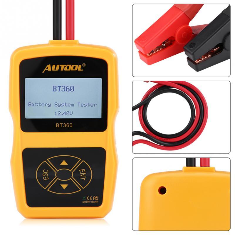 Testeur de batterie de voiture testeur de système de batterie de charge automobile analyseur numérique outil de Test de cellule testeur de charge multilingue BT360 - 5