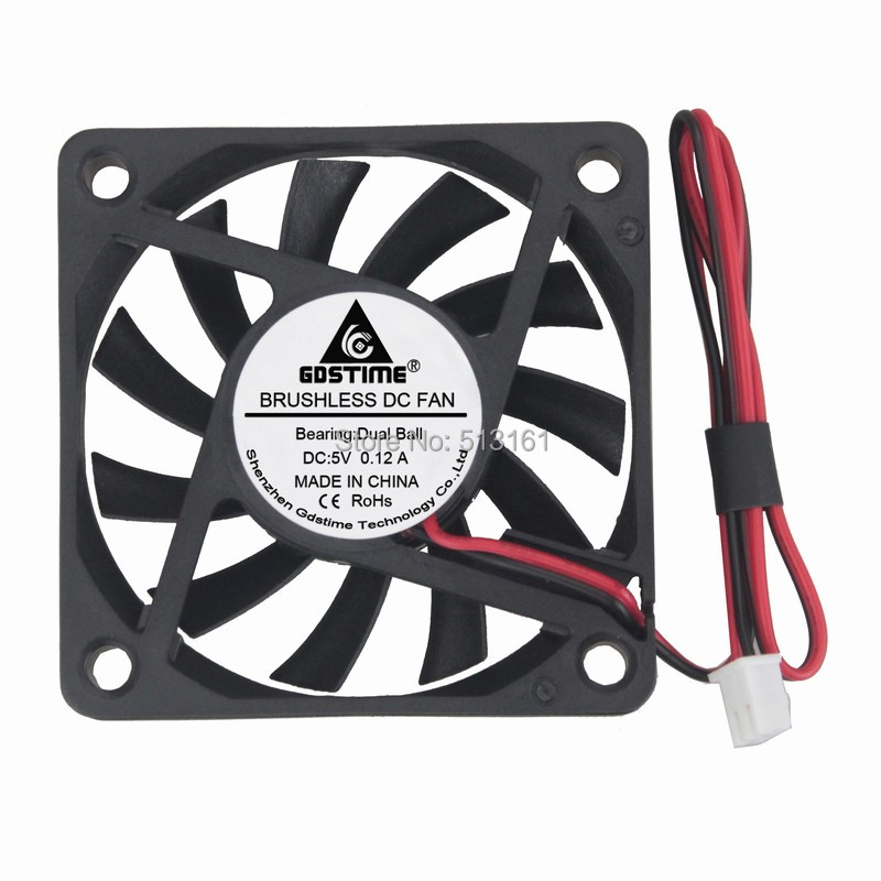 Gdstime 5V Ball Bearing 60mm 6cm x 10mm DC Brushless PC Laptop Computer Cooling Cooler Fan Indsutry Axial