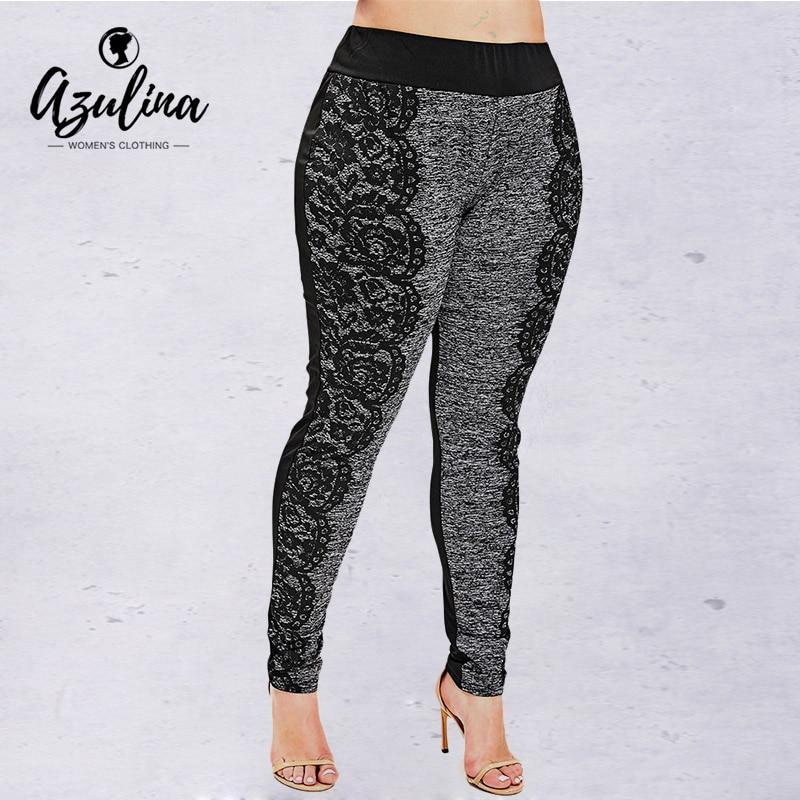Rosegal Women   Leggings   Casual Space Dye Plus Size Print   Leggings   Pencil Pants Skinny Elastic Mid Waist   Leggings   Ladies Trousers