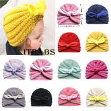Baby Toddler Kids Boys Girls Winter Warm Knitted Crochet Beanie Hat Cap Wool Girls Hospital Stretch Soft Thermal Hats Caps(China)