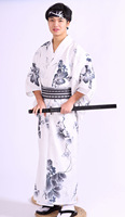 Men Kimono Bathrobe Dress Male Summer Festival Traditional Suit Christmas Cosplay Samurai Kimono Costumes DH052