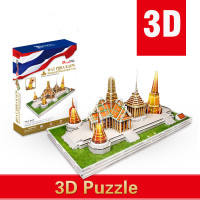 New Cube 3D Paper Capa citor Toy Thailand Statue Temple Puzzle Building Assembly Children Toys Christmas Gifts Free Shipping