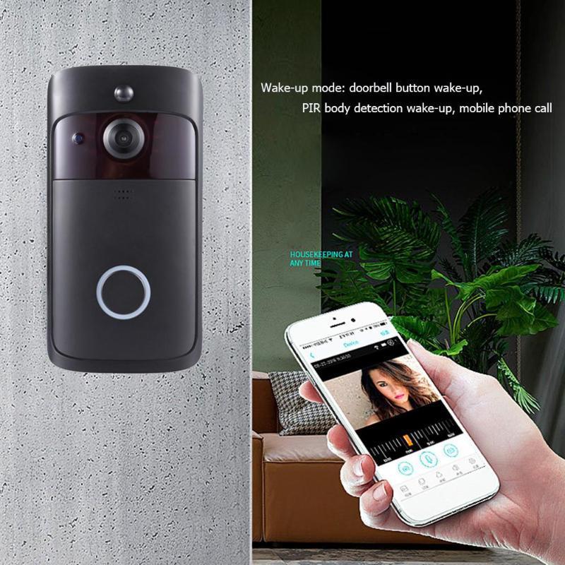 V5 Visual WiFi Smart Doorbell 2 Way Talk 720P Camera Night Vision Intercom 5