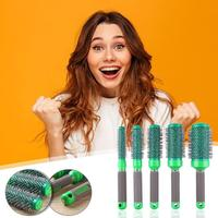 5pcs Boar Bristle Ionic Round Comb Set Barber Curly Hair Blowing Brushes Hairdressing Supplies Barber Accessories Tools