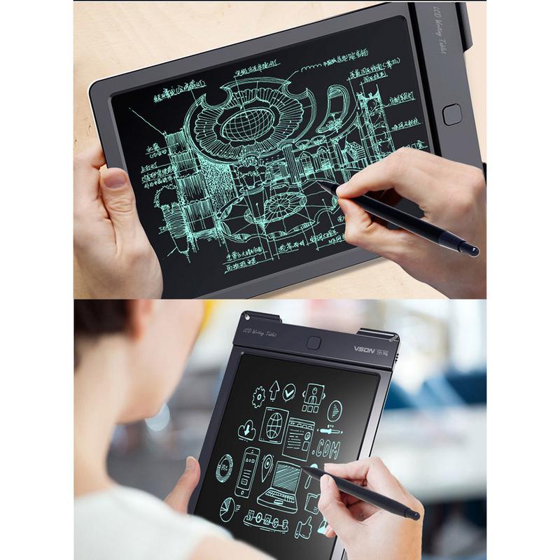 13inch Mini Small Boards Blackboard LCD Tablet Magnetic Chalkboard For Girls Boys Graffiti Chalk Electronic Writing Board
