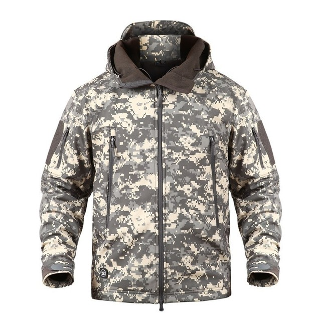 Outdoor Softshell Jacket Camouflage Waterproof Hiking Camping Military Tactical Hunting Winter Windproof Jacket