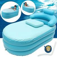 142x64x84cm Blue Portable Baby Bath Tub Foldable Inflatable Children Swimming Pool SPA Heat Pond Thicken Adult Kids Bathtub Part