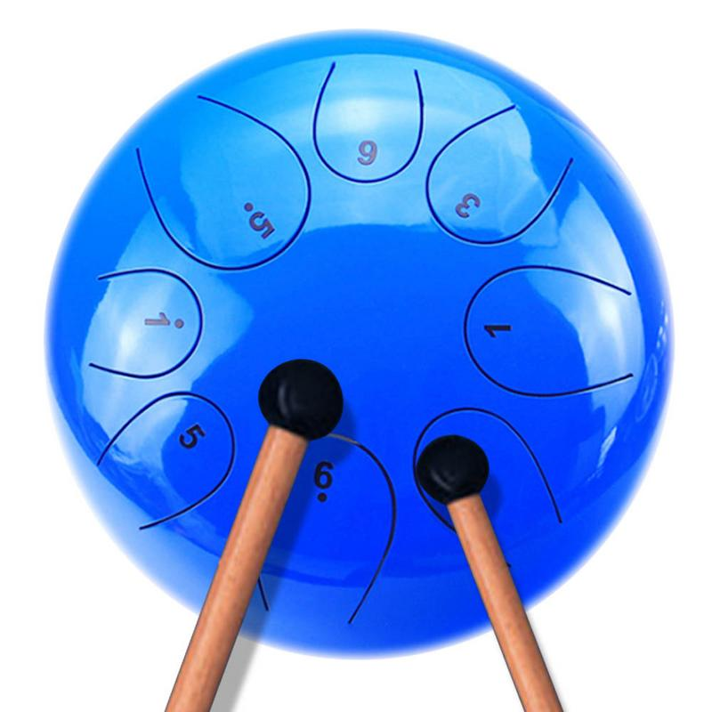 Tank Drum Steel Tongue Hang Drum with Five - tone Scale 10 for Art Lovers Childrens Music Enlightenment Buddhist MeditatorsTank Drum Steel Tongue Hang Drum with Five - tone Scale 10 for Art Lovers Childrens Music Enlightenment Buddhist Meditators