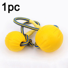 With Carrier Rope Play Fetch Indestructible Chew Toys Training Ball Bite Pet Dog Rubber Funny Teeth Solid Puppy(China)