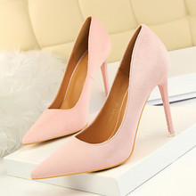 Woman Pumps Red Pink Black High Heels 11CM Women Shoes Fashion Simple Thin Heeled Pointed Sexy Nightclubs Shoes DS-A0103 patent leather high heels red sexy women shoes pointed toe thin heels shoes woman pink black silver female shoe size 40 ds a0146