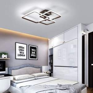 Image 5 - New LED Ceiling Light For Living Room Dining Bedroom Dimmable With Remote  White Coffee Frame Lighting Fixture Lamparas De Techo