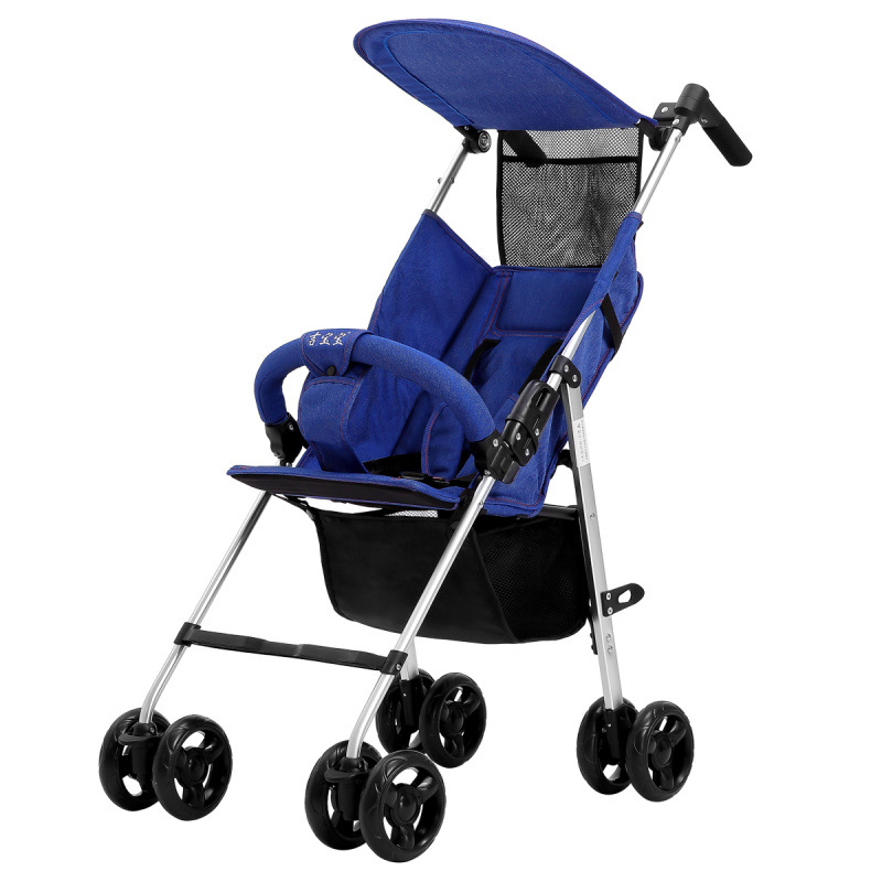 Baby stroller can sit reclining lightweight folding stroller high landscape child baby child trolley travel stroller